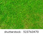green lawn for background | Shutterstock . vector #523763470