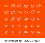 outline weather icons