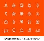 christmas icons | Shutterstock .eps vector #523767040