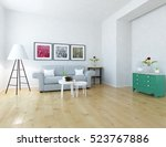 white room with sofa. living...   Shutterstock . vector #523767886