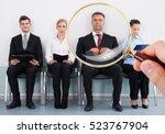 job interview | Shutterstock . vector #523767904