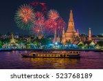 Wat Arun And Cruise Ship In...
