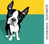 vector illustration of a cute... | Shutterstock .eps vector #523768429