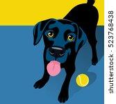 vector illustration of a happy... | Shutterstock .eps vector #523768438