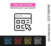 vector online store icon.... | Shutterstock .eps vector #523768948