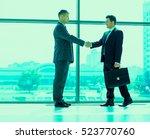full length image of two... | Shutterstock . vector #523770760