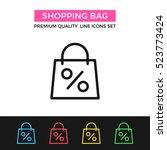 vector shopping bag icon. sale  ...   Shutterstock .eps vector #523773424
