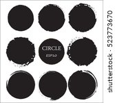 set of hand drawn circles ... | Shutterstock .eps vector #523773670