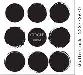 set of hand drawn circles ... | Shutterstock .eps vector #523773670