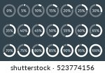 set of circle percentage... | Shutterstock .eps vector #523774156