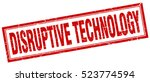 disruptive technology. stamp.... | Shutterstock .eps vector #523774594