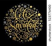 merry christmas in spanish...   Shutterstock .eps vector #523776400