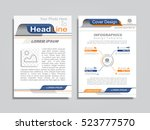 brochure design layout with... | Shutterstock .eps vector #523777570
