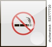 no smoking sign. | Shutterstock .eps vector #523777720