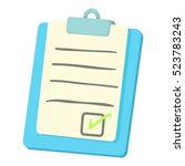 checklist on a clipboard icon.... | Shutterstock .eps vector #523783243