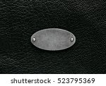 natural black leather texture... | Shutterstock . vector #523795369