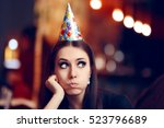 Sad Bored Woman At A Party...