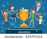 award winners. student win an...   Shutterstock .eps vector #523797214