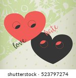 love or hate concept. love... | Shutterstock .eps vector #523797274