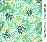 tropical background with palm... | Shutterstock .eps vector #523800640