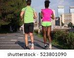 healthy young multiethnic... | Shutterstock . vector #523801090
