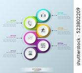 infographic design template... | Shutterstock .eps vector #523802209