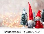 christmas greeting card. noel...   Shutterstock . vector #523802710