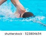 Man Swimming Crawl In A Pool