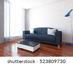 white empty interior with a... | Shutterstock . vector #523809730