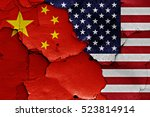 Flags Of China And Usa Painted...