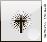christian cross icon. | Shutterstock .eps vector #523816933