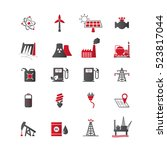 energy resources icon set. | Shutterstock .eps vector #523817044