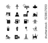 energy resources icon set. | Shutterstock .eps vector #523817053