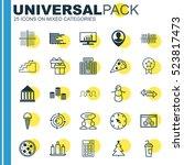 set of 25 universal editable...   Shutterstock .eps vector #523817473