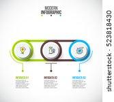 business data visualization.... | Shutterstock .eps vector #523818430