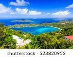 st thomas  us virgin islands.... | Shutterstock . vector #523820953