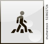 crosswalk icon. | Shutterstock .eps vector #523822726