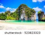 thailand. krabi province. hong... | Shutterstock . vector #523823323