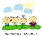 happy kids.   Shutterstock .eps vector #52382527