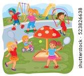 vector illustration of a girls... | Shutterstock .eps vector #523826638