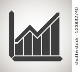 arrows graph icons. image chart ...