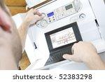 technician at work. servicing... | Shutterstock . vector #52383298