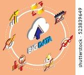illustration of info graphic... | Shutterstock .eps vector #523839649