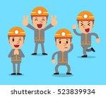 cartoon technician character... | Shutterstock .eps vector #523839934