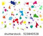 vector blots background. | Shutterstock .eps vector #523840528