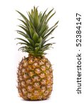 pineapple on a white background | Shutterstock . vector #52384147