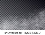 vector transparent mist effect... | Shutterstock .eps vector #523842310