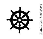 dharmachakra   wheel of dharma  ... | Shutterstock .eps vector #523846819