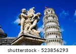 fontana dei putti and leaning... | Shutterstock . vector #523856293