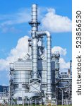 refinery tower in petrochemical ... | Shutterstock . vector #523856530